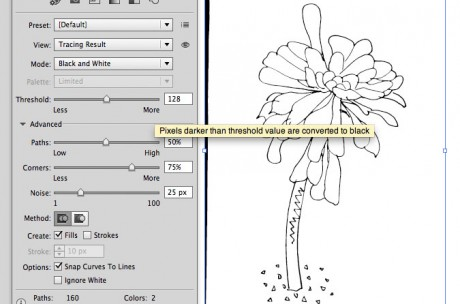 Live Trace tool in Illustrator